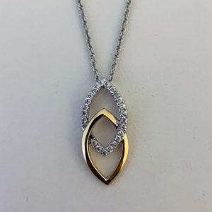 double marquise diamond pendant